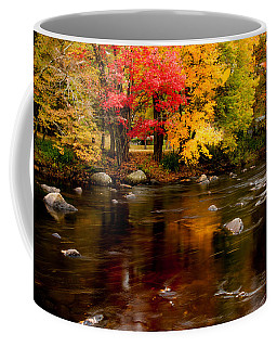 Coffee Mug featuring the photograph Autumn Colors Reflected by Jeff Folger