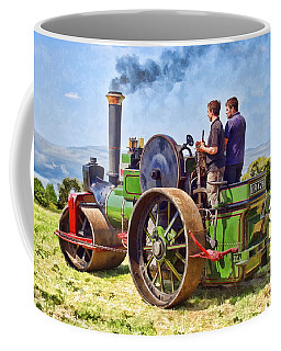 Coffee Mug featuring the photograph Aveling Roller by Paul Gulliver