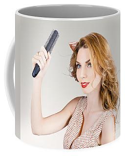 Beautiful Woman With Red Hair. Beauty Salon Model Coffee Mug