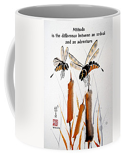 Coffee Mug featuring the painting Beeing Present by Bill Searle