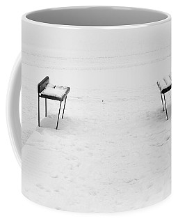 Benches On A Dock Coffee Mug by Jouko Lehto