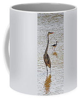 Blue Heron And Stilt Coffee Mug