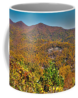 Coffee Mug featuring the photograph Blue Ridge Parkway by Alex Grichenko