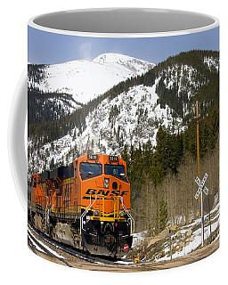 Bnsf Rolls Through Rollins Pass Colorado Coffee Mug