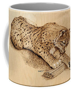 Bobcat And Friend Coffee Mug by Ron Haist