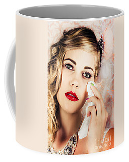 Bride Crying Tears Of Joy During Marriage Vows Coffee Mug