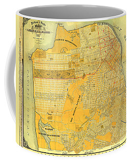 Britton And Reys Guide Map Of The City Of San Francisco. 1887. Coffee Mug