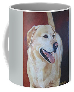 Coffee Mug featuring the painting Buddy by Sharon Schultz