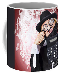 Business Person Crying During Financial Crisis Coffee Mug