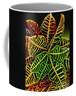 Cadiaeum Crotons Tropical Houseplant Shrub Coffee Mug by Carol F Austin