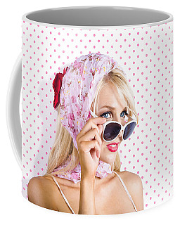 Captivating Woman Looking At Fashion Copyspace Coffee Mug