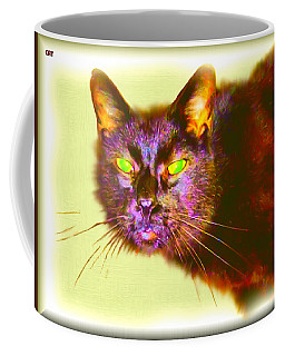 Coffee Mug featuring the digital art Cat by Daniel Janda