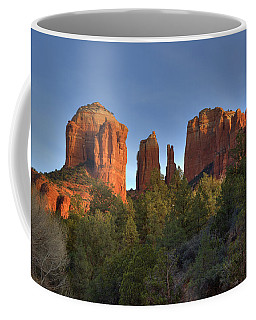 Coffee Mug featuring the photograph Cathedral Rocks In Sedona by Alan Vance Ley