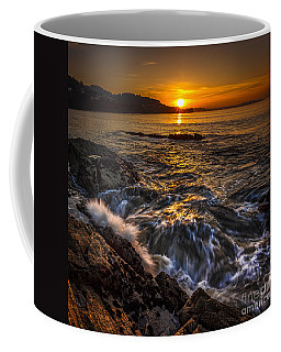 Chamoso Point In Ares Estuary Galicia Spain Coffee Mug