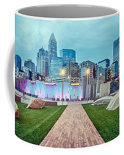 Charlotte City Skyline In The Evening Coffee Mug