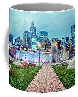 Charlotte City Skyline In The Evening Coffee Mug