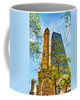 Chicago Water And Hancock Towers Coffee Mug