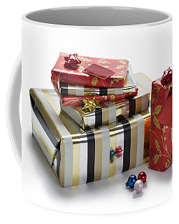 Coffee Mug featuring the photograph Christmas Gifts by Lee Avison