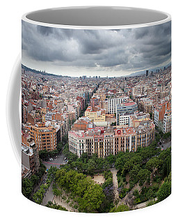 City Of Barcelona From Above Coffee Mug