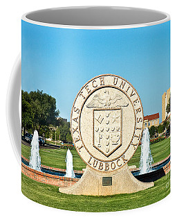 Coffee Mug featuring the photograph Classical Image Of The Texas Tech University Seal  by Mae Wertz