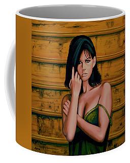 Claudia Cardinale Painting Coffee Mug