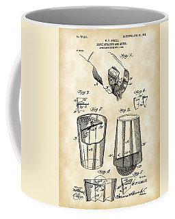 Cocktail Mixer And Strainer Patent 1902 - Vintage Coffee Mug