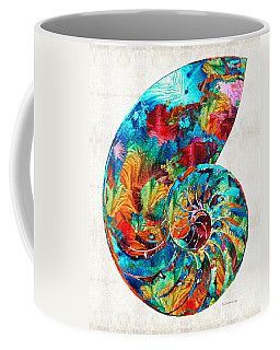 Colorful Nautilus Shell By Sharon Cummings Coffee Mug