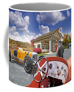 Colors Of Autumn Vintage Standard Oil Station Coffee Mug
