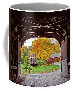 Covered Bridge In Autumn Coffee Mug