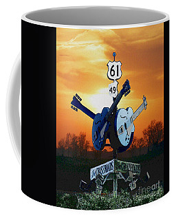 Crossroads Sunset  Blues Highway 61 Coffee Mug