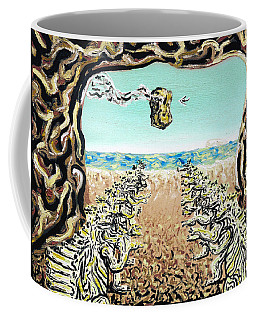 Coffee Mug featuring the painting Cult Erie by Ryan Demaree