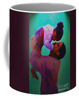 Coffee Mug featuring the painting Daddys' Little Girl by Vannetta Ferguson