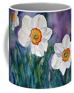 Coffee Mug featuring the painting Daffodil Dream by Anna Ruzsan