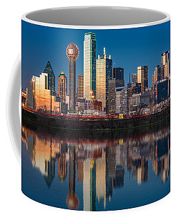 Dallas Skyline Coffee Mug by Mihai Andritoiu