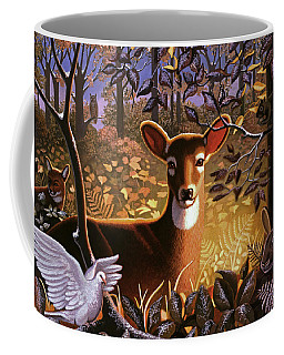 Deer In The Forest Coffee Mug