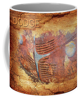 Coffee Mug featuring the photograph Dodge In Rust by Larry Bishop
