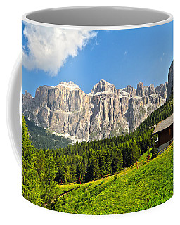 Dolomiti - High Fassa Valley Coffee Mug by Antonio Scarpi
