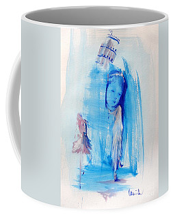 Coffee Mug featuring the mixed media Dreaming Of Pisa by Laurie Lundquist