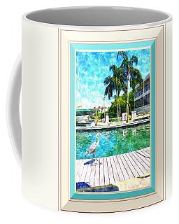 Dry Dock Bird Walk - Digitally Framed Coffee Mug