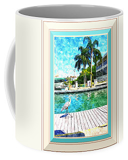 Dry Dock Bird Walk - Digitally Framed Coffee Mug