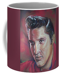 Coffee Mug featuring the pastel Elvis by Peter Suhocke