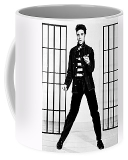 Elvis Presley Coffee Mug by Doc Braham