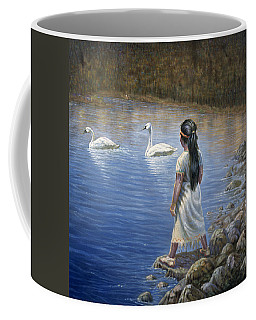 Enjoying The Trumpeter Swans Coffee Mug