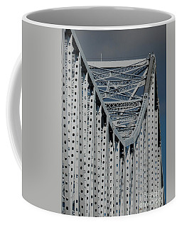 Coffee Mug featuring the photograph New Orleans Crescent City Connection Erector Set Bridge by Michael Hoard