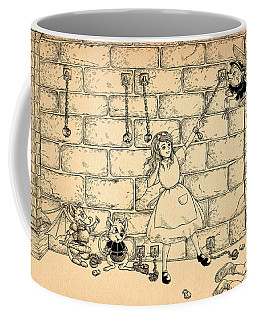Coffee Mug featuring the drawing Escape by Reynold Jay