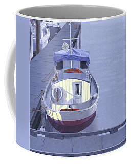 Coffee Mug featuring the painting Evening At Port Hardy by Gary Giacomelli