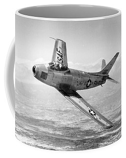 Coffee Mug featuring the photograph F-86 Sabre, First Swept-wing Fighter by Science Source