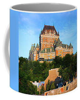 Facade Of Chateau Frontenac In Lower Coffee Mug