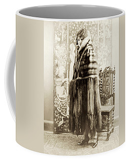 Coffee Mug featuring the photograph Fashion Fur, 1925 by Granger