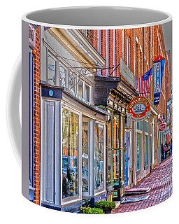 Coffee Mug featuring the photograph Federal Hill Storefronts by William Norton
